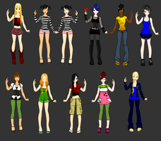 The Total Drama Island Ladies by cococheese