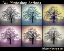 Free Fall Photoshop Actions by ibjennyjenny