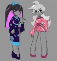 Panty and Stocking With Garterbelt kimono by sho-N-D