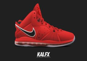 Nike Lebron 8 'Red Suede' by BBoyKai91
