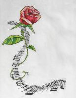Rose and Music by artfullycreative