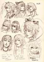 Touhou character head sketch by Tres-Iques