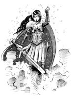 HeroesCon Sketch: Lady Sif by Shono