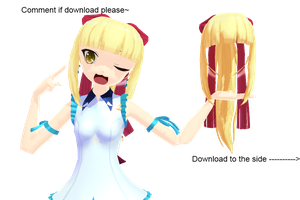 MMD Myuus Hair DL by Pink-Heart-Pri