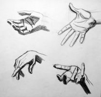 Anatomy Study hands sketch by RichardBlumenstein