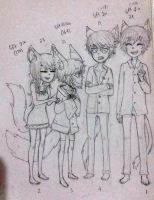 Cafe sibling height chart by LittleSoyaBeanMilk