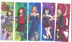 Us girls bookmarks by lizspit