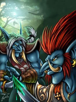 Troll Rogues in color by Dustmeat