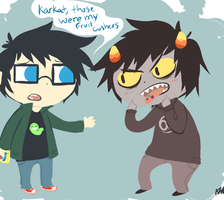 Karkat Ate All My Gushers by The-EverLasting-Ash