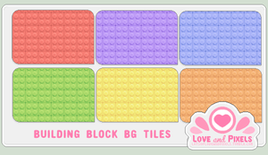 Pixel - Building Block BG Tile by firstfear