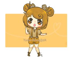 120pts Caramelized Chocolate Girl Adoptable by SunflowerDragon