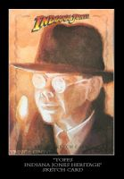 Sketch Card-Indiana Jones 19 by TrevorGrove