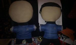 Spock and Bone plushies by TheQueenofLight