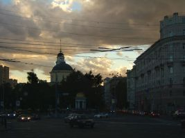 Evening. Nikitskaya square by mirator