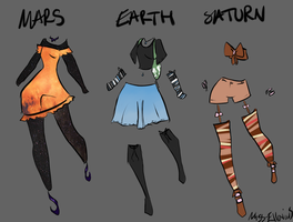 Planet outfits by Miss-Ellanius