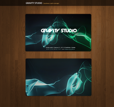 Gravity Business Cards by alivepixel