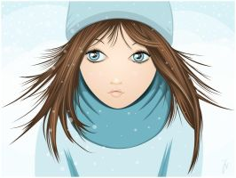 Snowgirl by LillemorGull