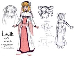 Lucille Concept Sketches by Mole-Chan