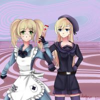 Fem!Norway and Fem!England by Aralynx