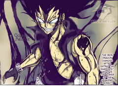 Fairy tail chapter 319, gajeel coloring. by Itzdesire