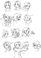 Vampire Ed expressions by qianying