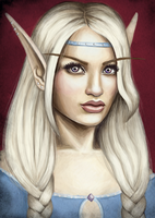 blood elf priestess by iMMuhUnic0rn