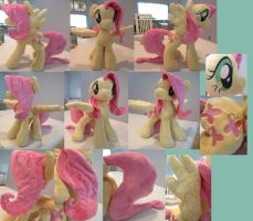 huge minky fluttershy plush by Plushypuppystudio