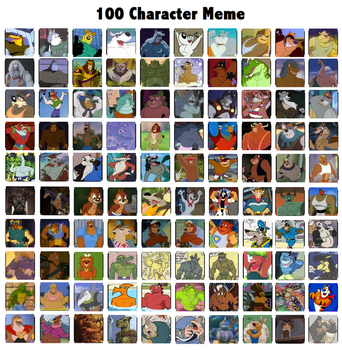 100 Character Meme (Very) Rough by ToonTorment