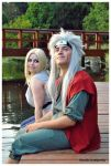 Tsunade and Jiraiya by LadyArcade