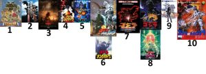 Top 10 Godzilla movies by Abyss1