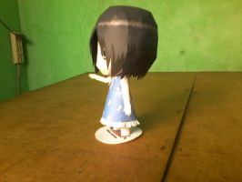 Chibi Mikasa Ackerman Paper Model: Side view by MarcGo26