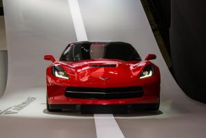 Detroit 2013: Chevrolet Corvette Stingray Red by randomlurker