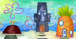 3 houses of Bikini Bottom by Sulfura