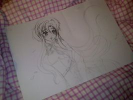*NEW PAITING - WORK Asuna Yuuki Sword Art Online 3 by K-I-M-I