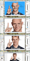Daniel Tosh portrait: the process by OdieFarber