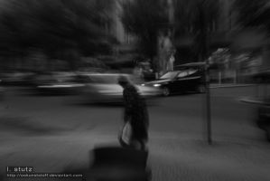 through city traffic by OOkunststoff