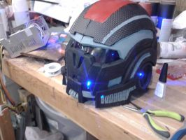 Mass Effect N7 Helmet/Rebreather Mask by bobsideways