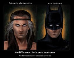 Lan batman comparison by ReddEra