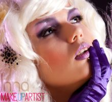 purple make-up by funfmarz