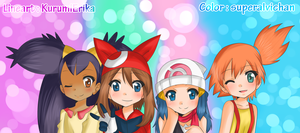 Pokegirls -COLLAB- by superalvichan