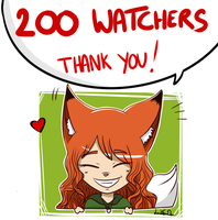 THANK YOU ! (200 Watchers) by LeahFoxDen
