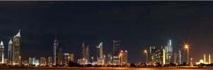 Dubai Towers Panorama by ammarAnbar