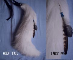 white wolf tail by TabbyPaw