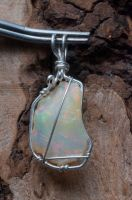 Welo opal pendant F by lamorth-the-seeker