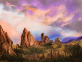 desert  - speed paint by smeetrules