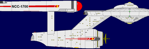 Constitution Class Starship 2 by captshade