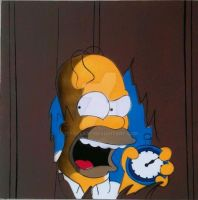 Homer Simpson The Shining by iStncLart
