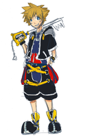 Sora Sketch Colored by mrSneakie