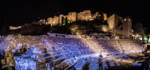 Magic in the roman theater at night III by JuanChaves