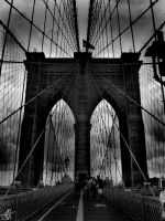 New York City, Brooklyn Bridge by Sk8ergirl098